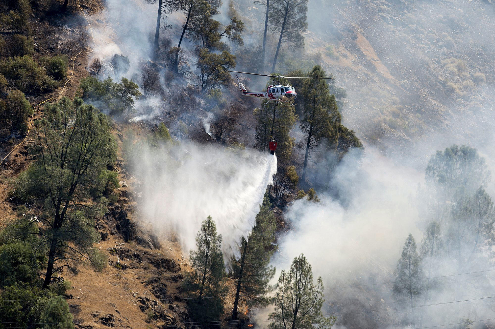Ferguson Fire California Map.Second Generation Firefighter Killed Battling Ferguson Fire Near