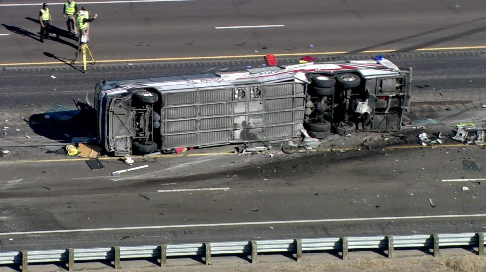 New Mexico bus crash: 3 dead, dozens hurt in highway multi-vehicle