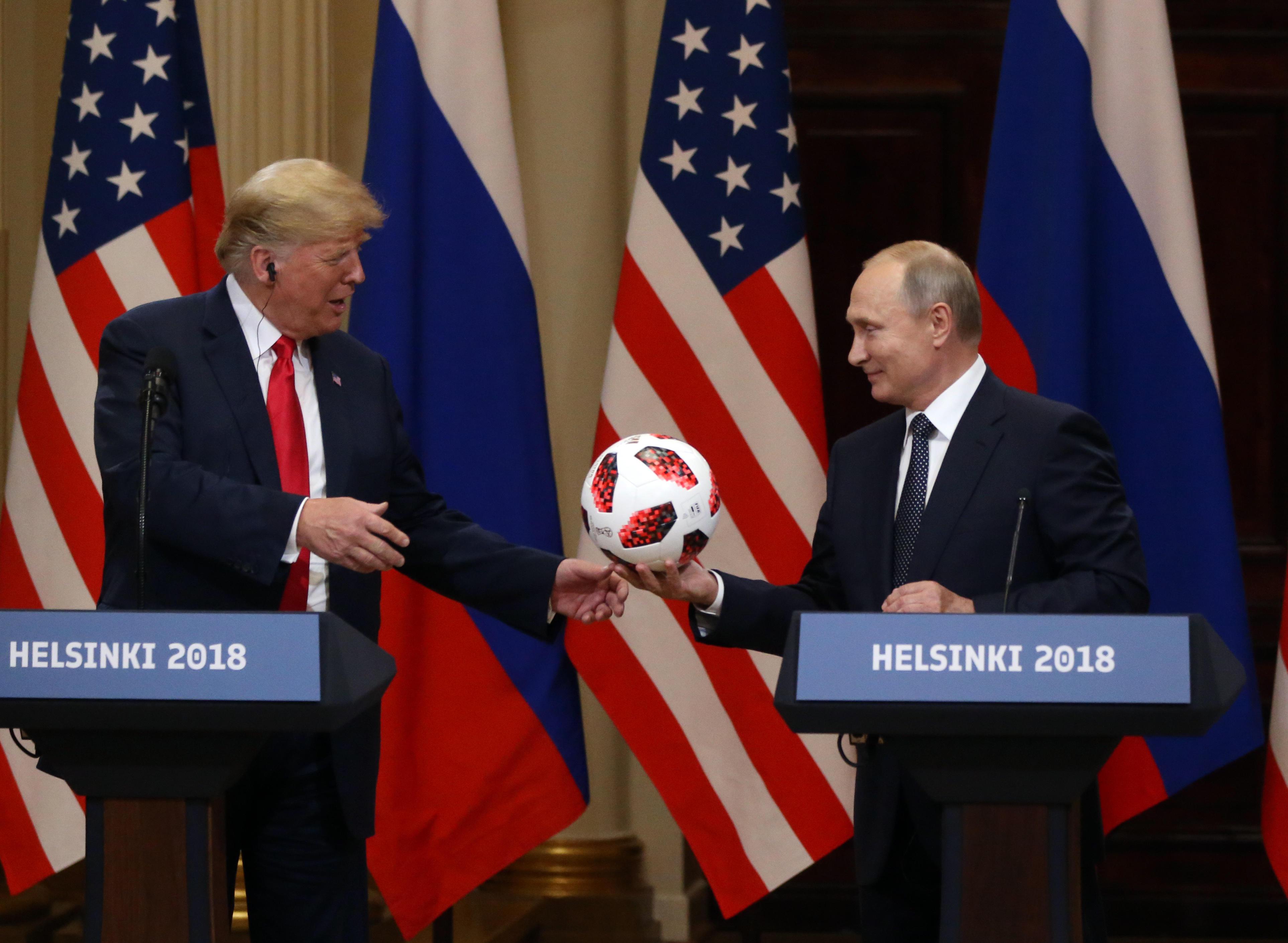 76eb79186 Vladimir Putin's soccer ball gift to Trump may have had microchip ...