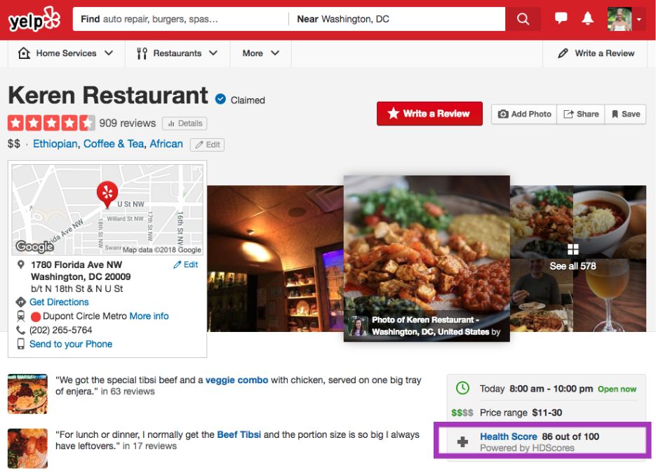 Yelp Adds Health Inspection And Hygiene Reports For Restaurants