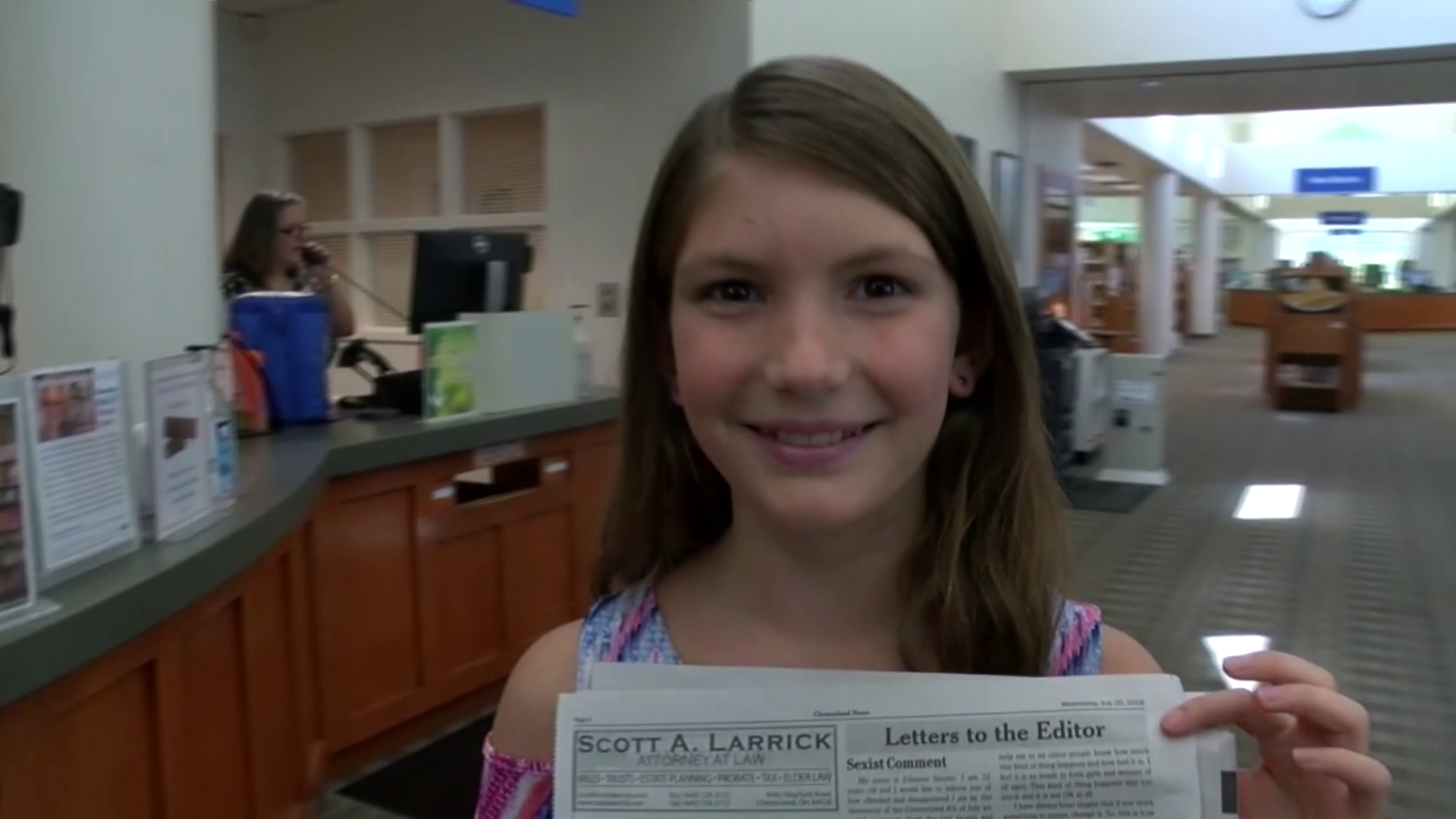 girl calls out sexist comment at parade by writing letter to the editor