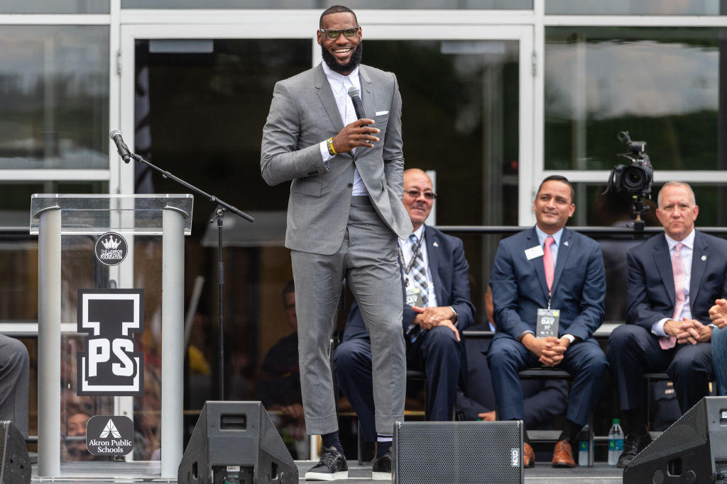 15e46b9c7fa LeBron James speaks at opening of new I Promise School in Akron ...