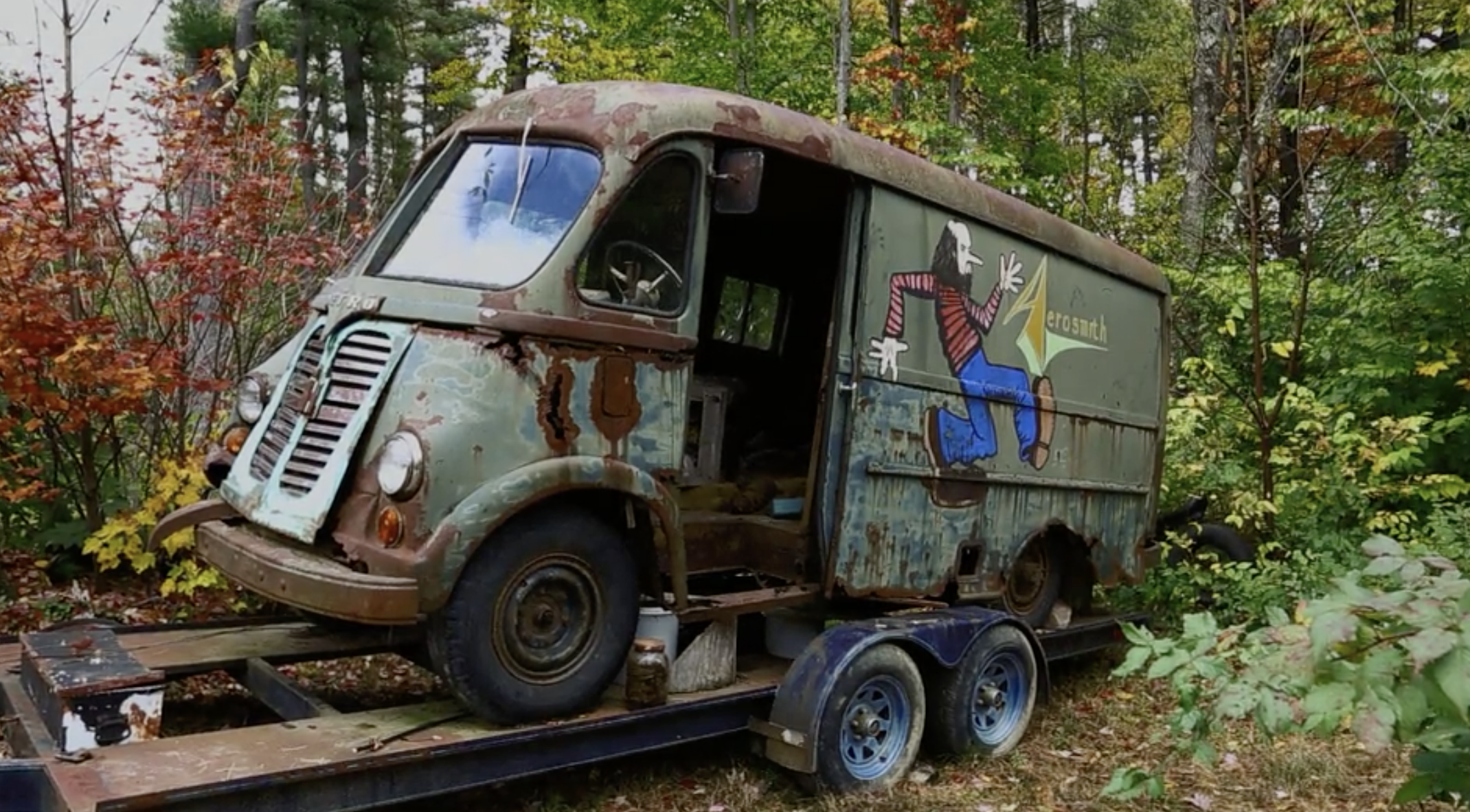 00c9b2ac0a Original Aerosmith tour van found in small Massachusetts town by