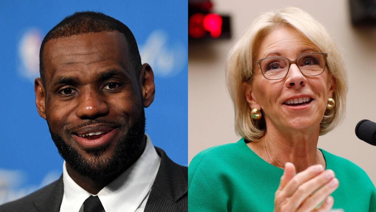 What Betsy Devos Calls Education >> Thousands Sign Petition Calling For Lebron James To Replace Betsy