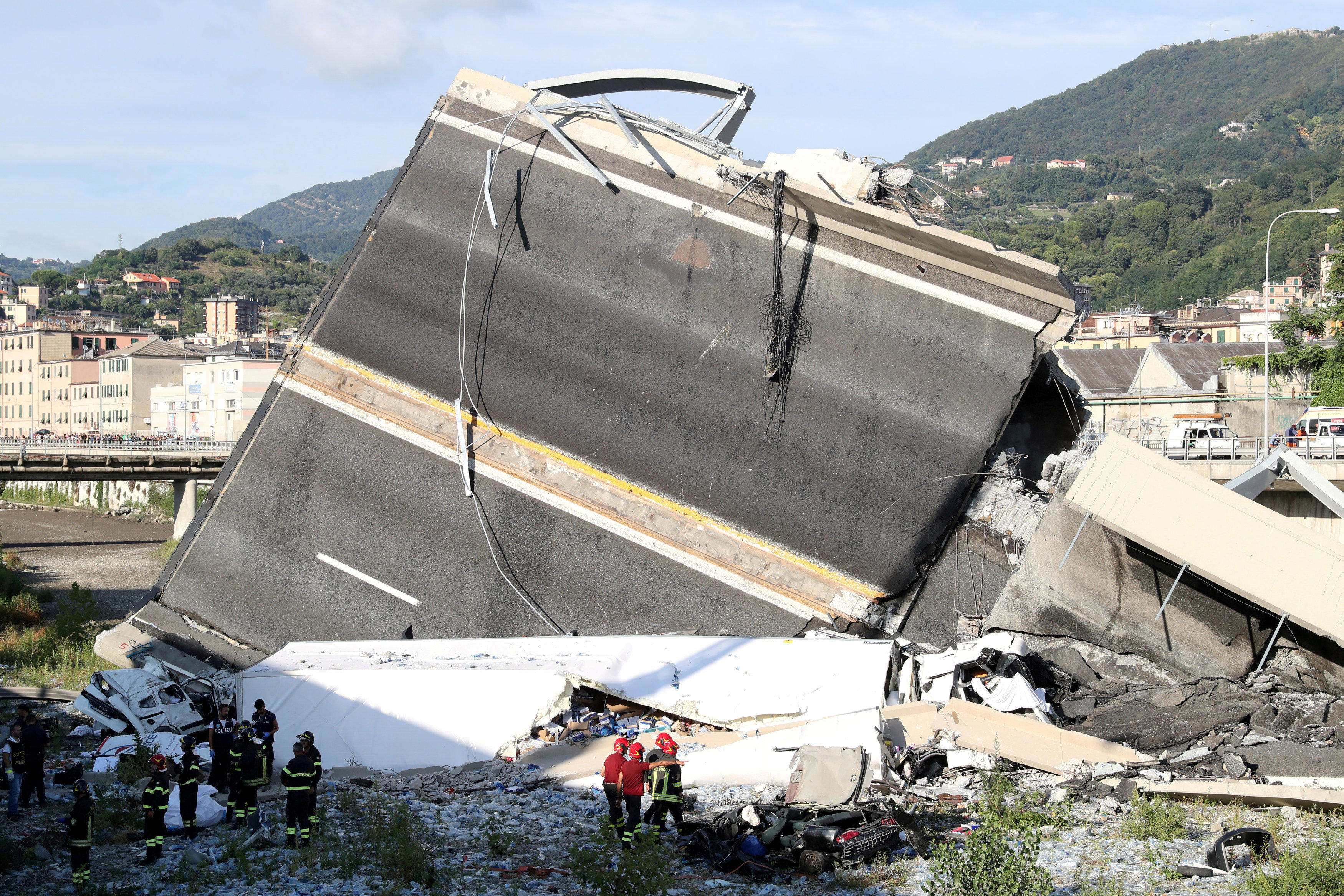 Genoa bridge collapse in Italy: Death toll rises amid anger as