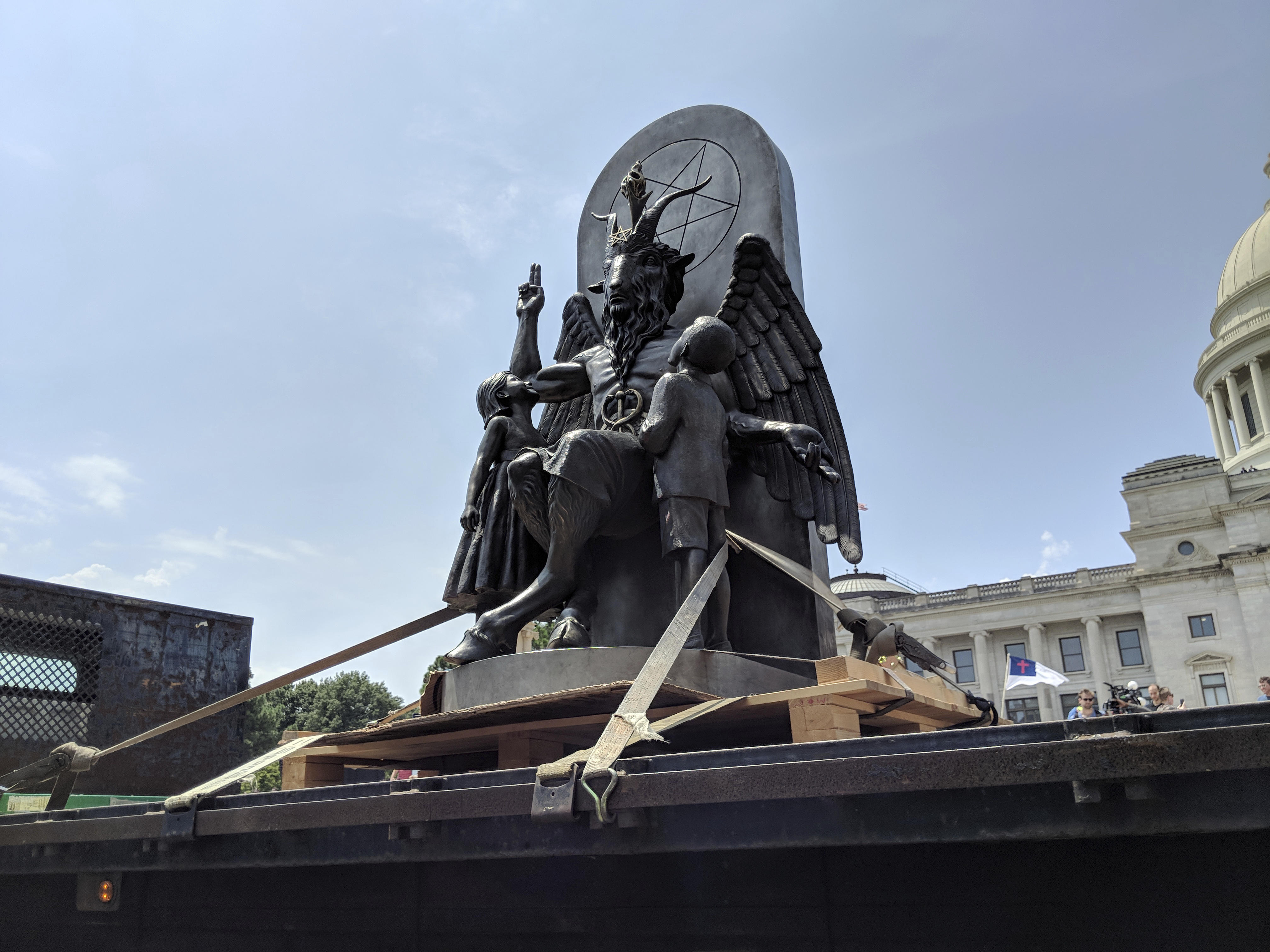 Satanic Temple unveils statue of goat-headed, winged