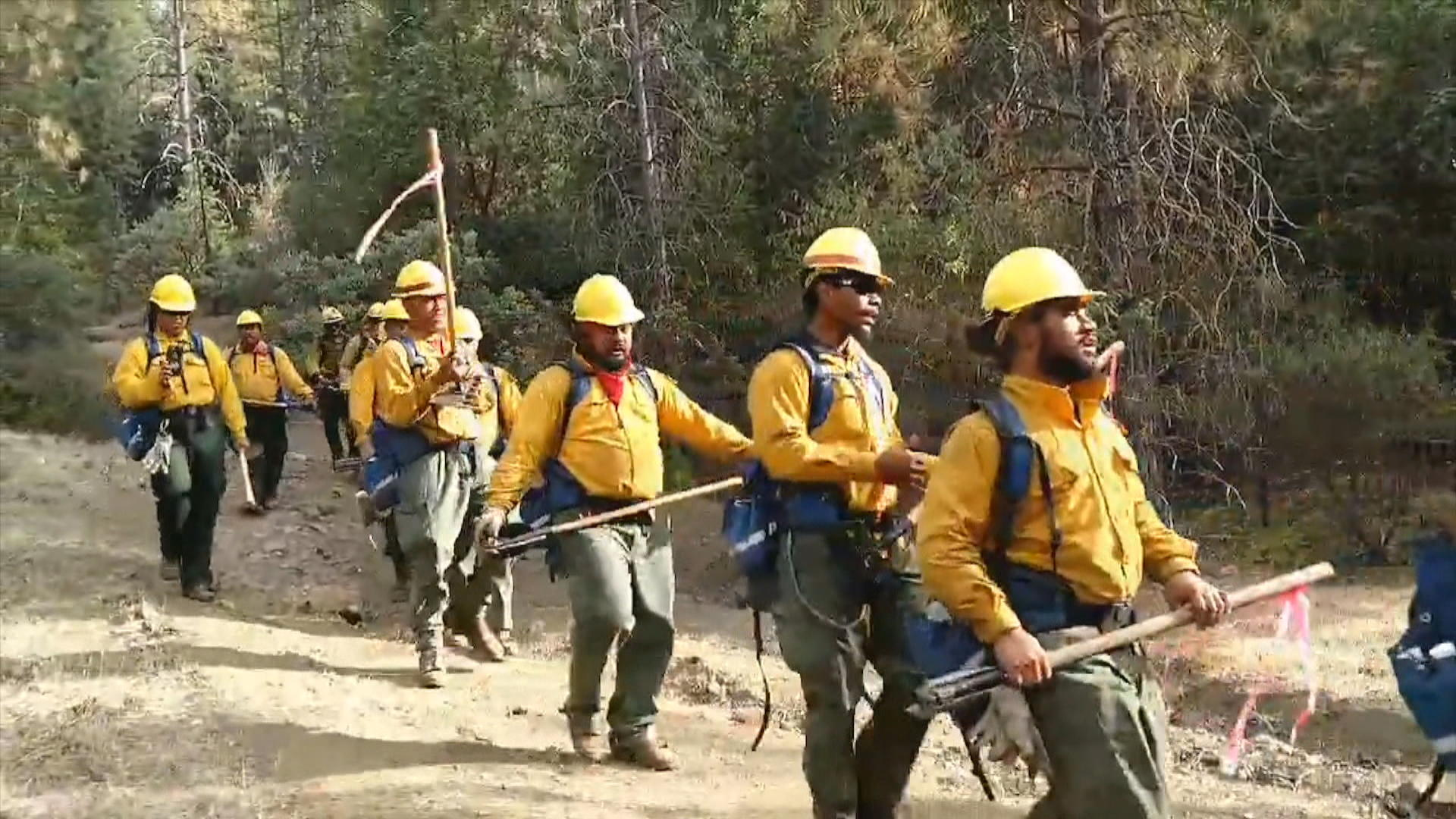 Singing Samoan firefighters lift spirits in fight against