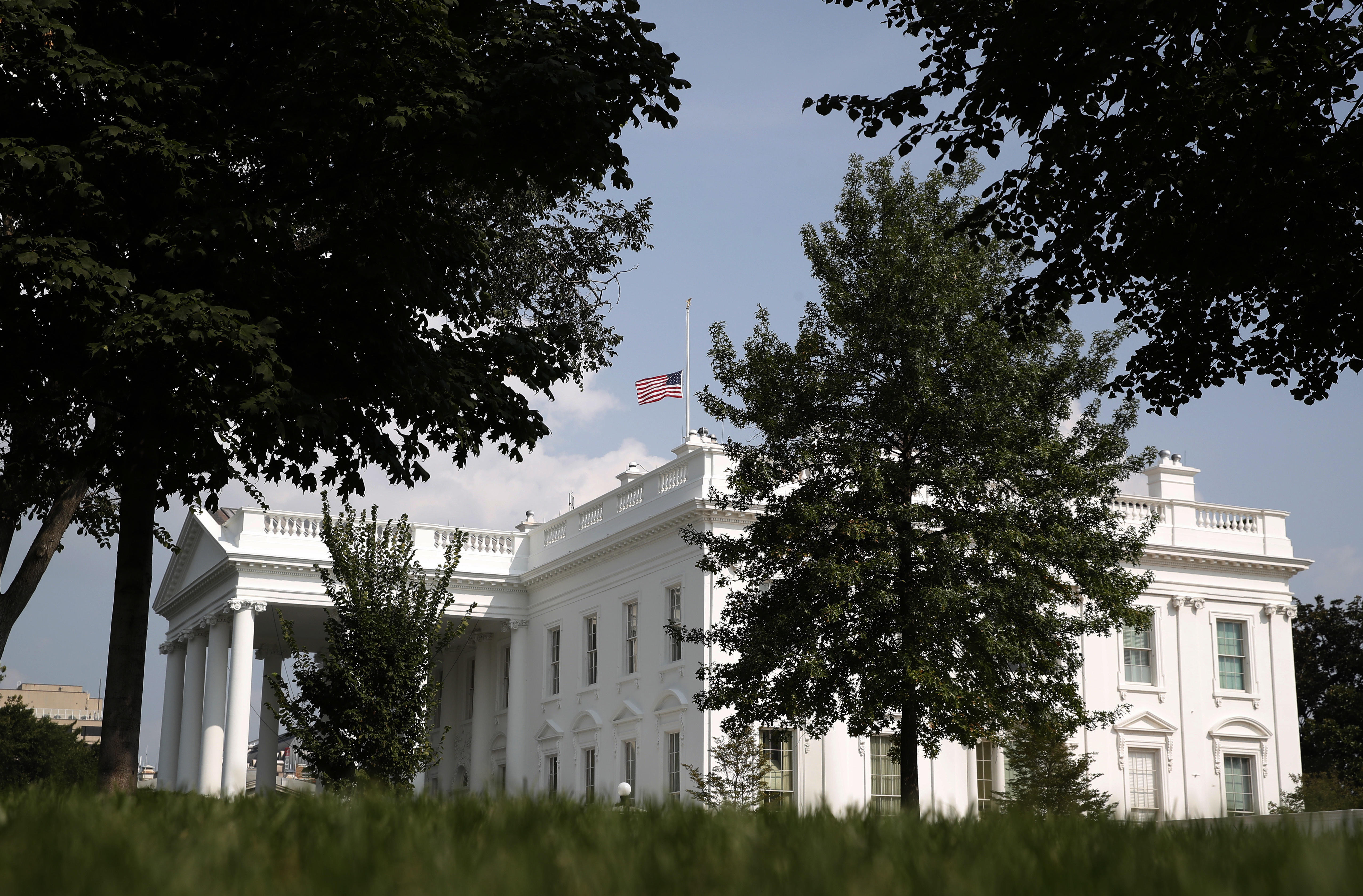Stupendous Flag At White House Lowered To Half Staff As Nation Honors Download Free Architecture Designs Scobabritishbridgeorg