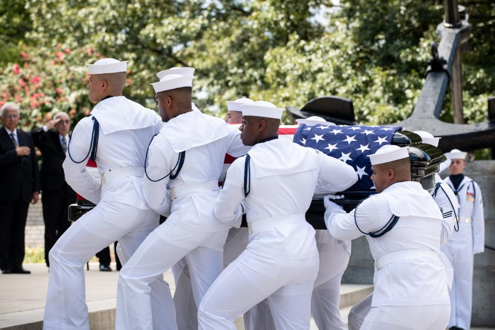 A hero's final farewell: John McCain laid to rest at U.S. Naval Academy