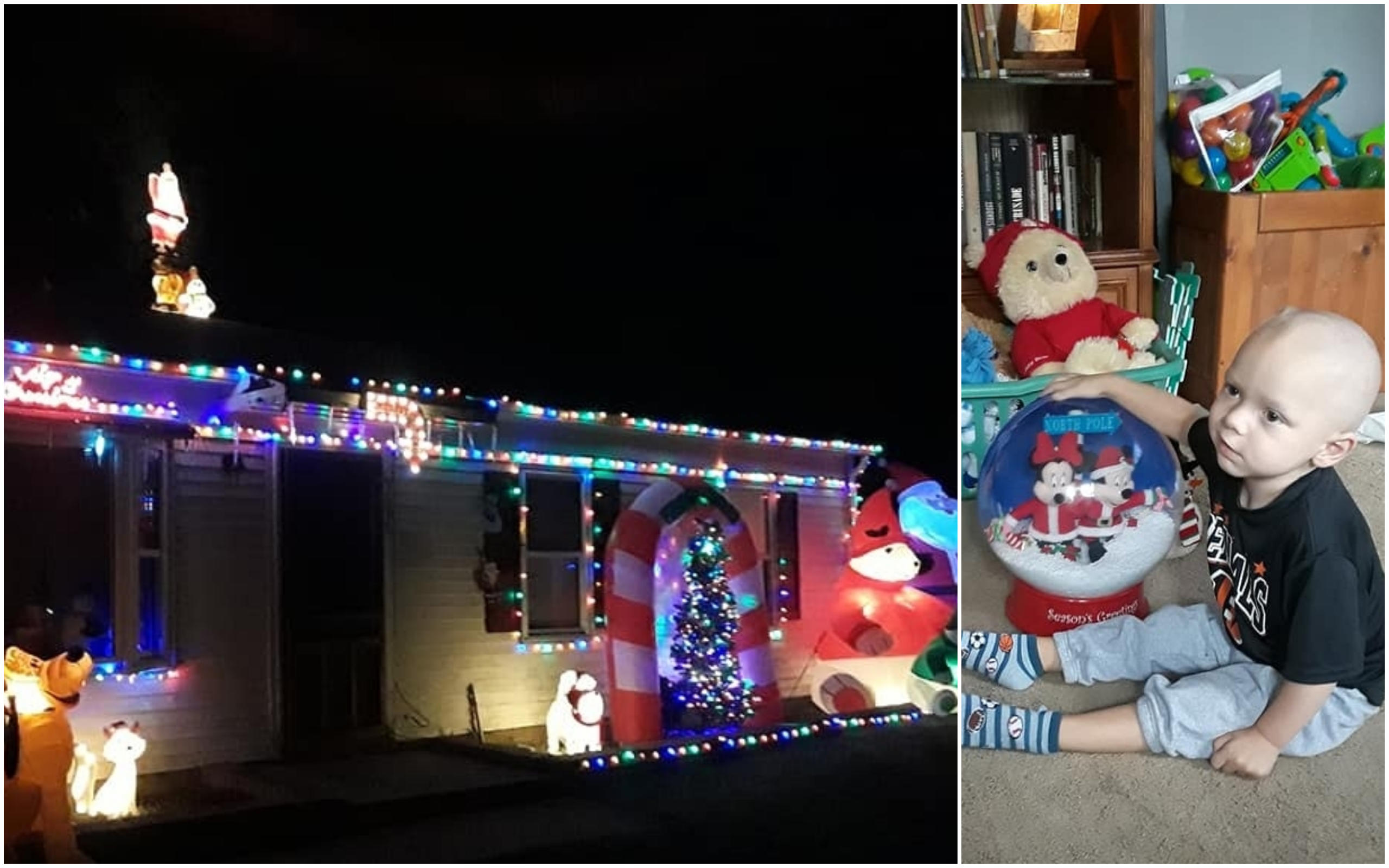 Neighborhood Celebrates Christmas Early For 2 Year Old Boy Dying Of Brain Cancer