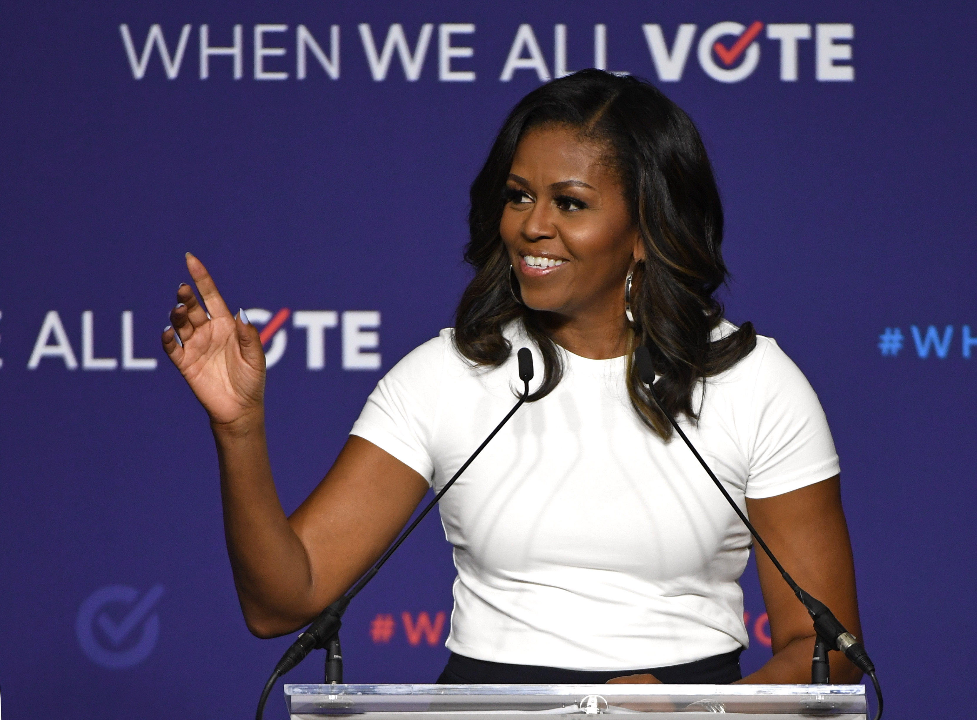 Obama Task Force Urges Improved Police >> Former First Lady Michelle Obama Rally In Las Vegas Nevada Today