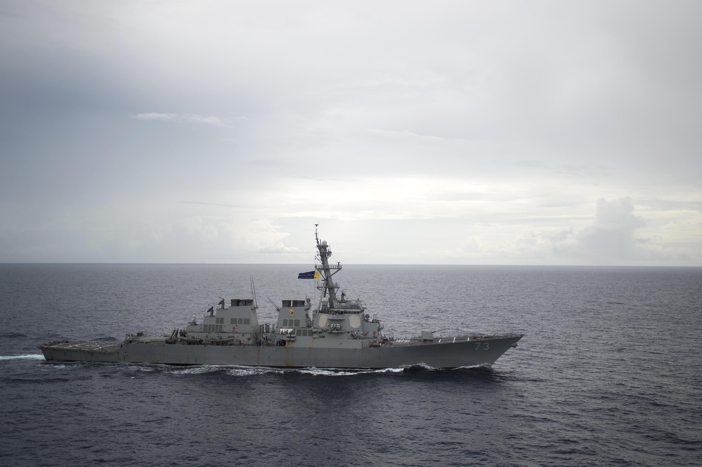 U S  Navy cruiser has