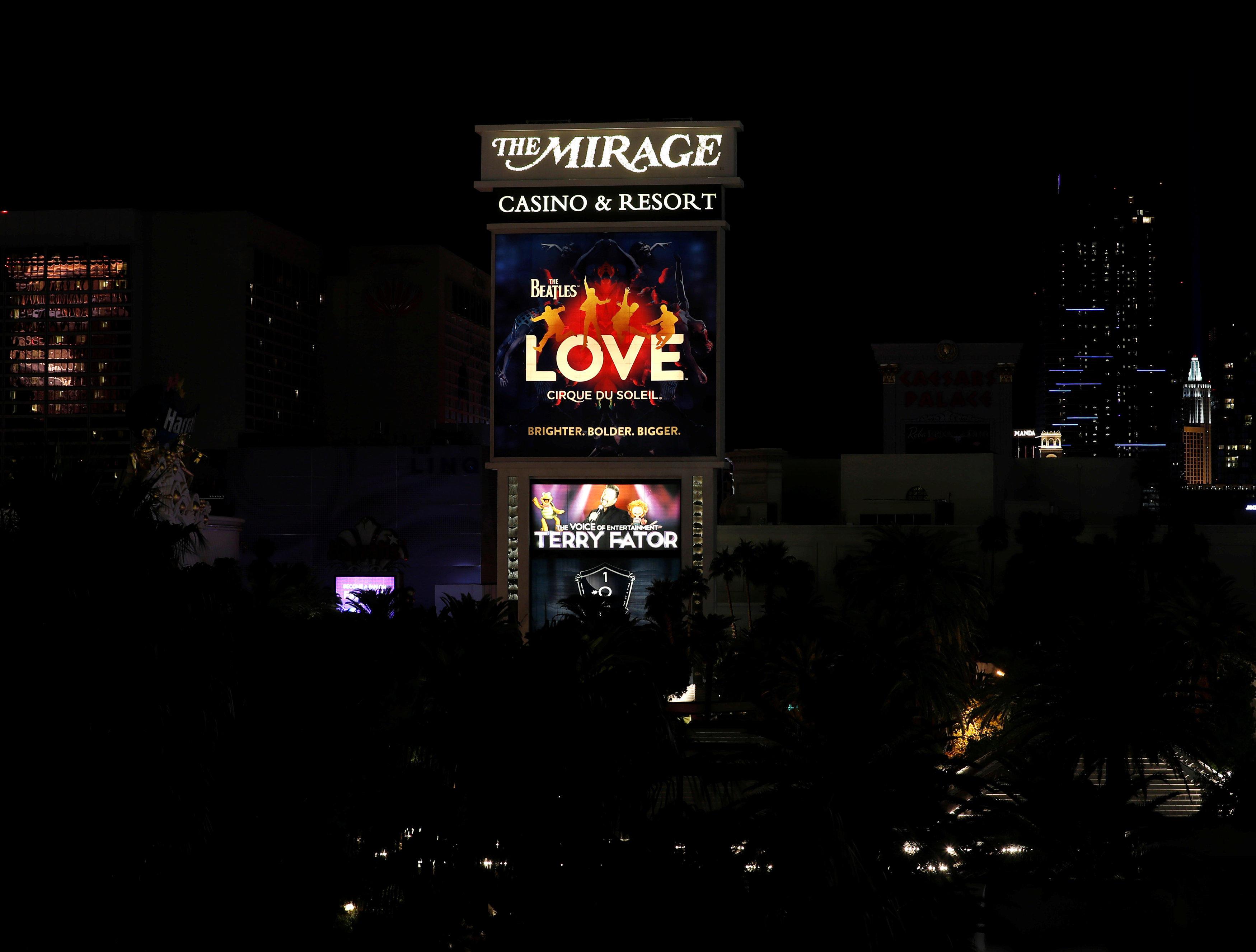 Las Vegas Strip Lights Dim Ceremonies Held As Shootings First