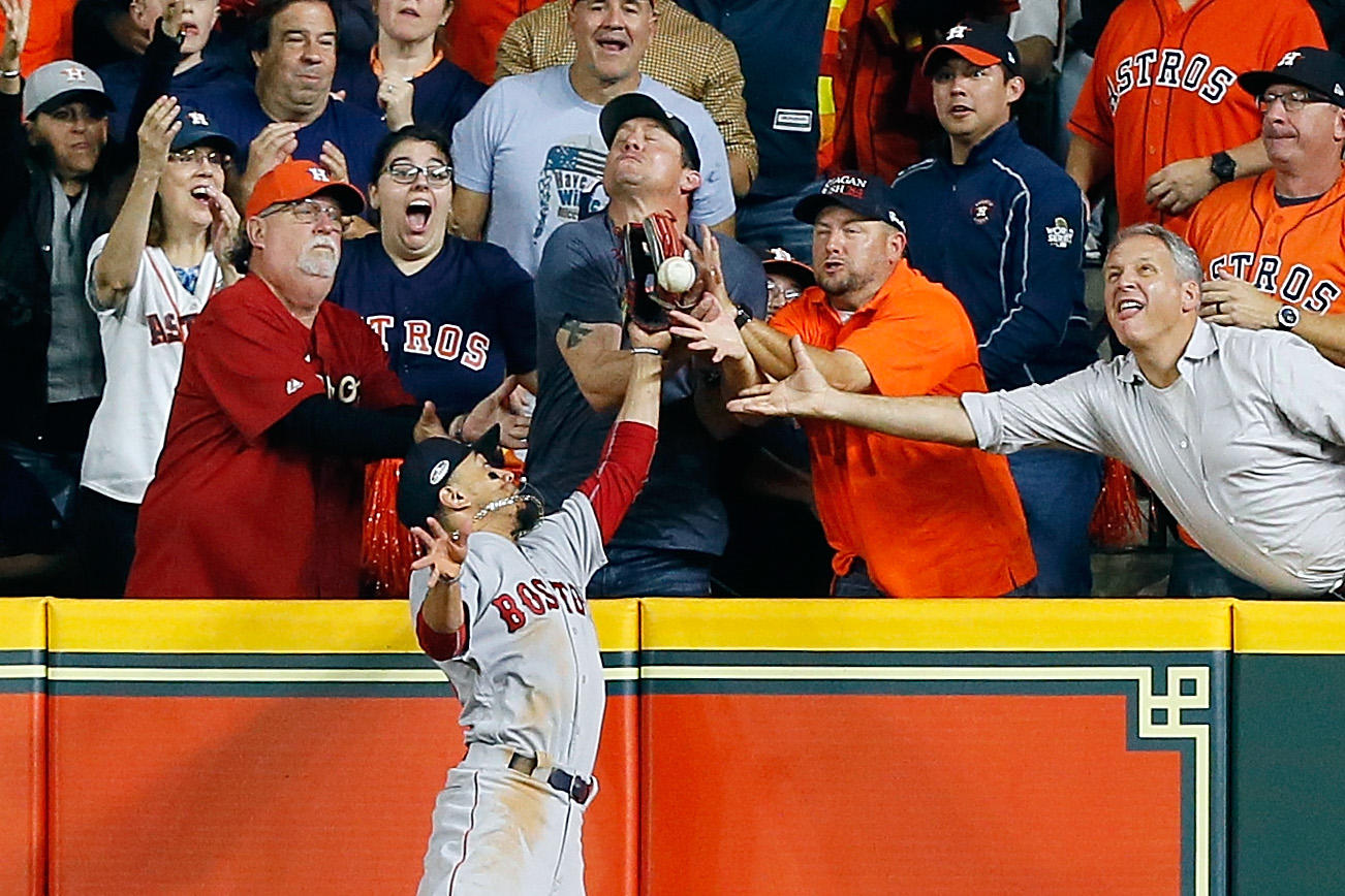 Controversial interference call against Houston Astros fan