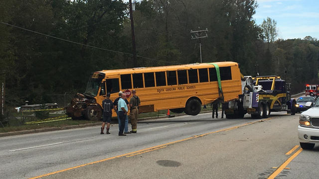Multiple injuries reported in South Carolina school bus crash - CBS News