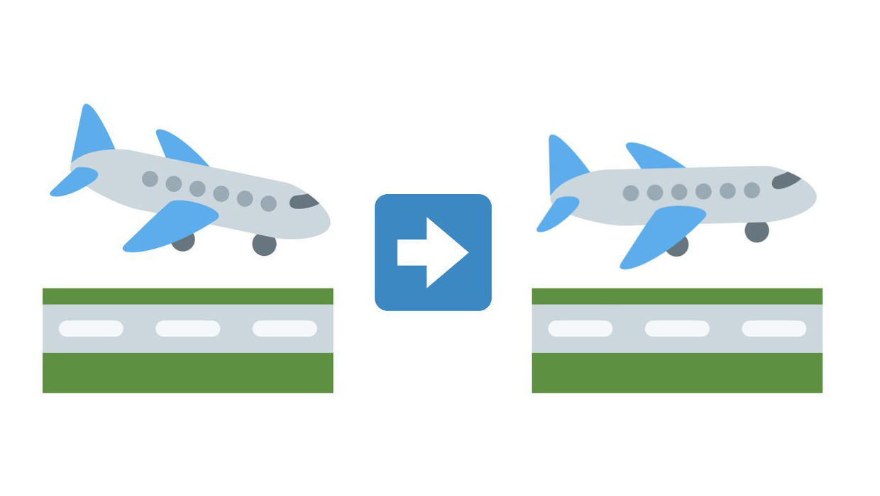 Airports suggest making plane arrival emoji a little less