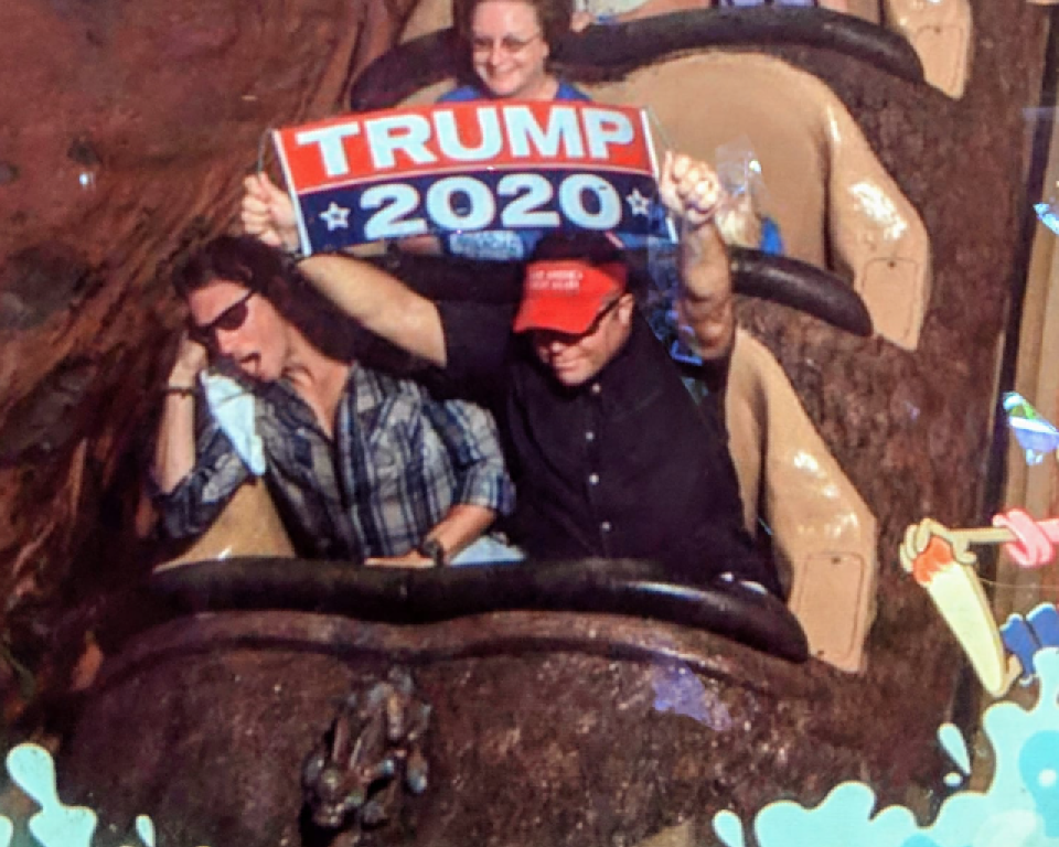 Man Kicked Out Of Disney World After Waving Trump 2020
