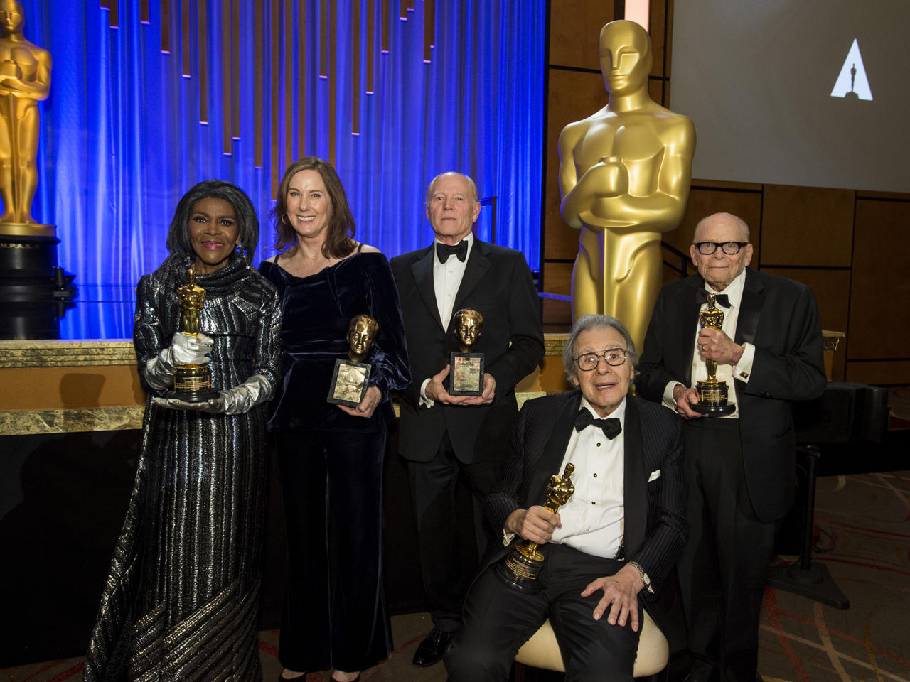 Academy presents Governors Awards to actress Cicely Tyson, producers Kathleen Kennedy and Frank Marshall, composer Lalo Schifrin, publicist Marvin Levy - CBS News