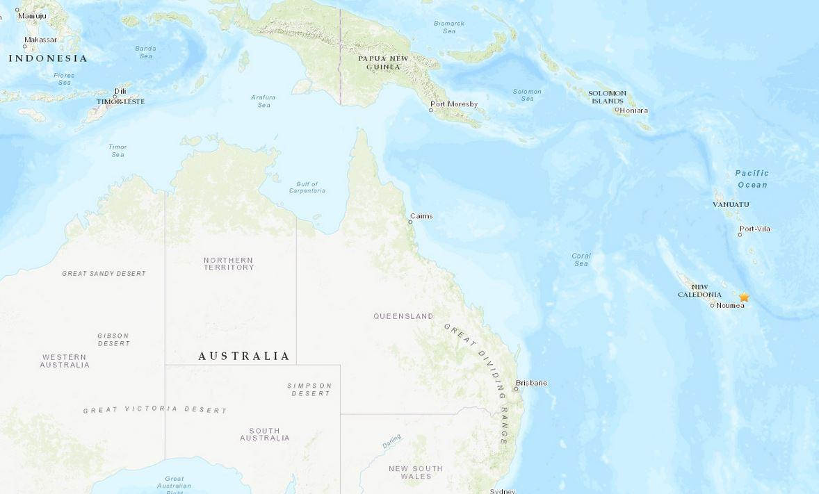 Strong earthquake hits South Pacific on
