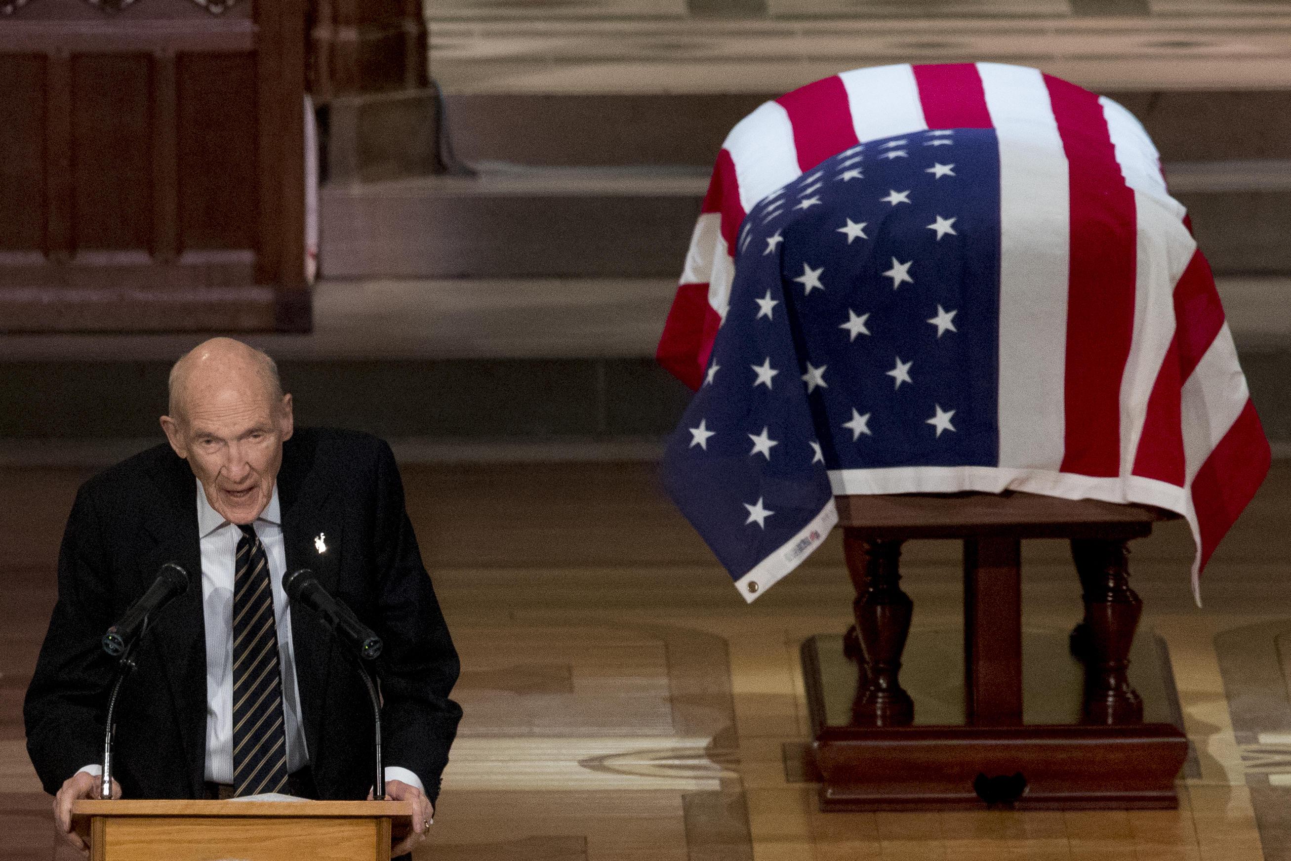 Transcript Former Sen Alan Simpson S Eulogy For Former President