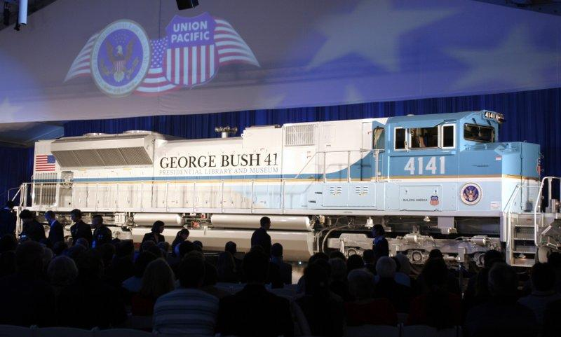 Bush funeral train: George H W  Bush departs on first