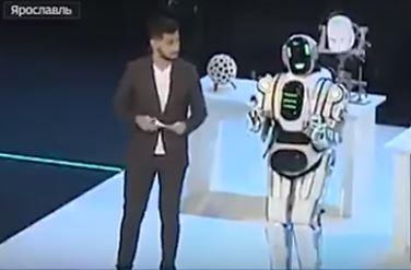 Russia 24 State Tv Calls Man In Boris The Robot Costume Example Of
