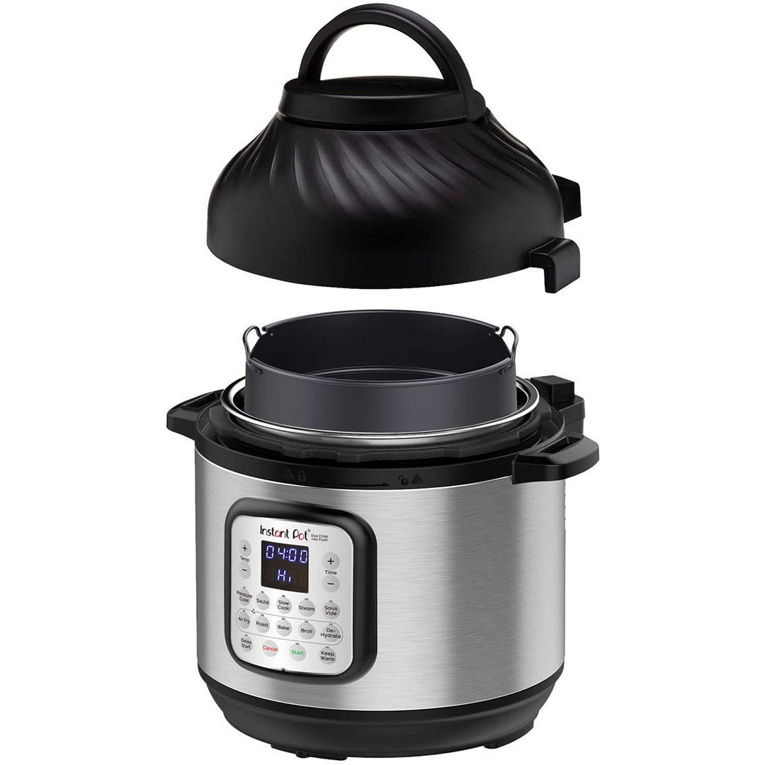Instant Pot Duo Crisp 11-in-1 Electric Pressure Cooker with Air Fryer, Roast, Bake, Dehydrate, Slow Cook, Rice Cooker, Steamer, Saute, 8 Quart, 14 One-Touch Programs