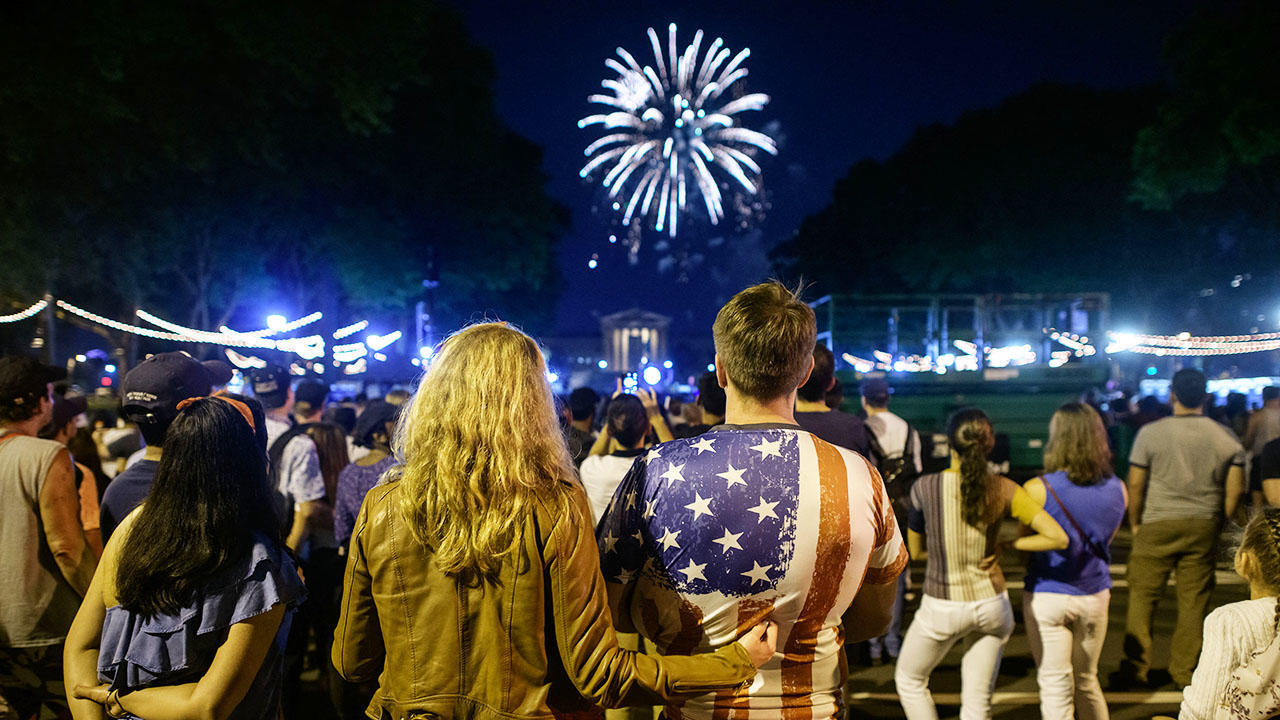 July 4 fireworks celebration in Philadelphia 2021