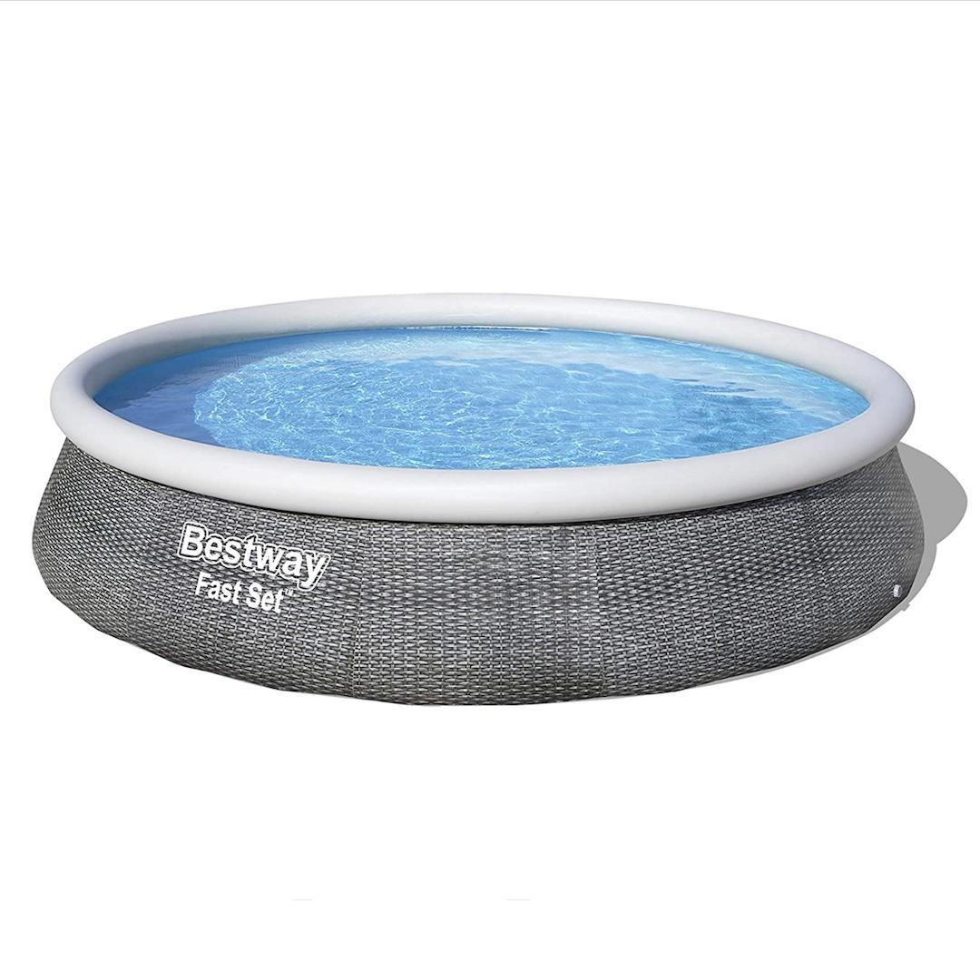 Bestway fast ground rattan pool set