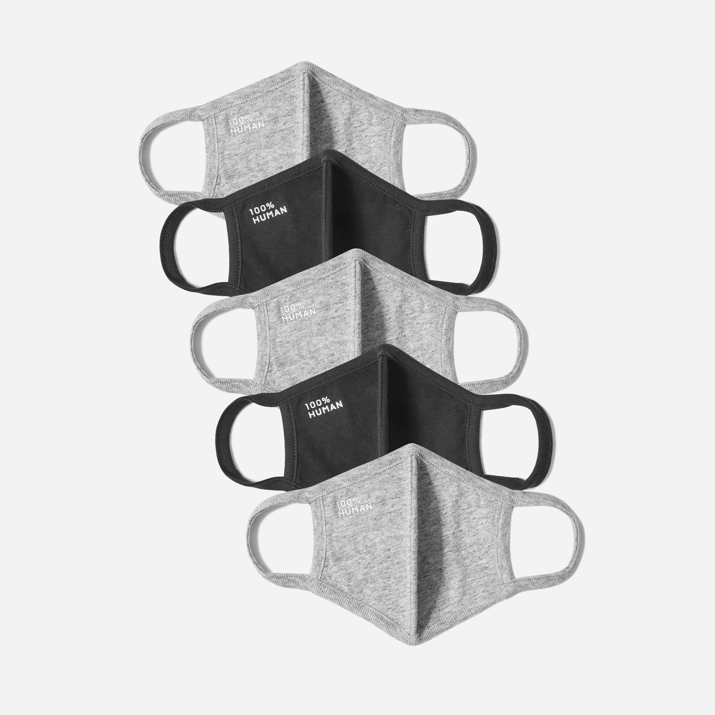 Everlane The 100% Human face mask five-pack
