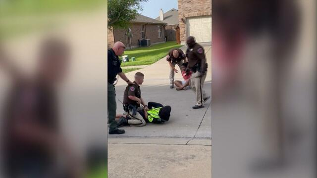 Texas deputy pins teen to ground while she cries,