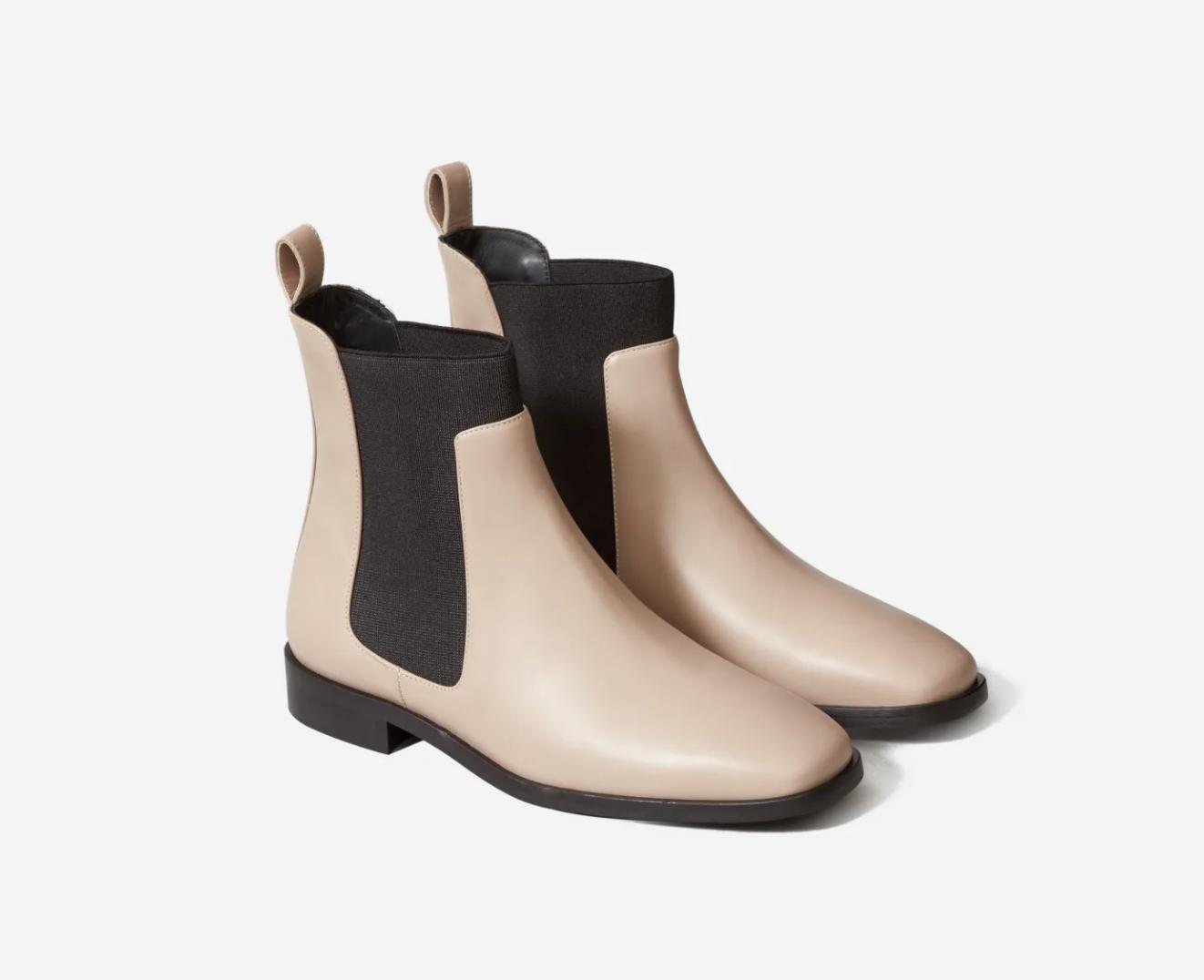Everlane Italian leather square toe Chelsea boot