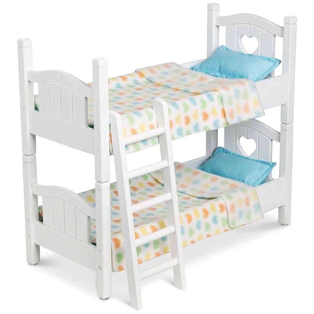 Melissa & Doug Mine to Love Wooden Play Bunk Bed for Dolls