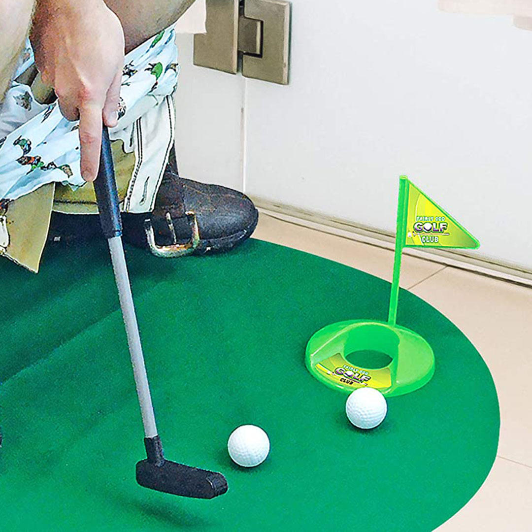 Potty Putter toilet golf