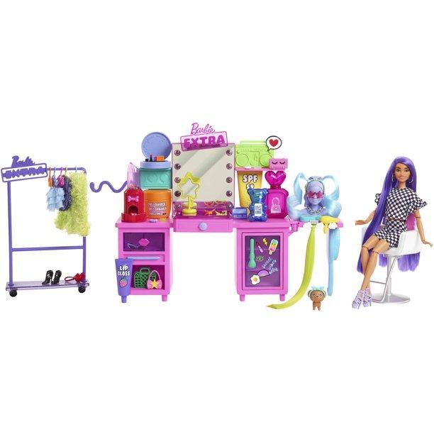 Barbie Extra Doll & Vanity Playset