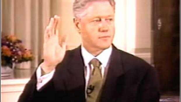 Image result for president bill clinton's grand jury testimony in the monica lewinsky scandal is on tv
