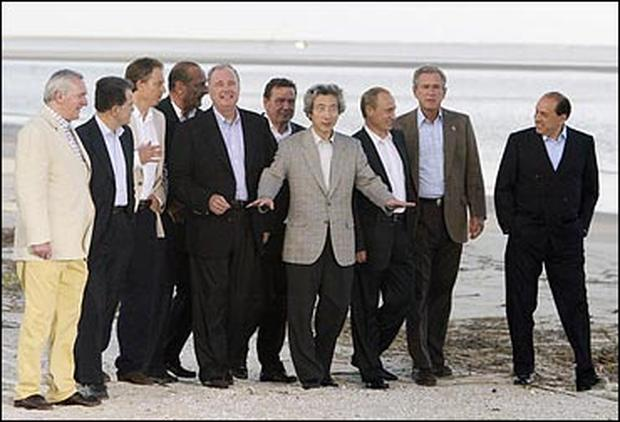G8 Meet on Sea Island