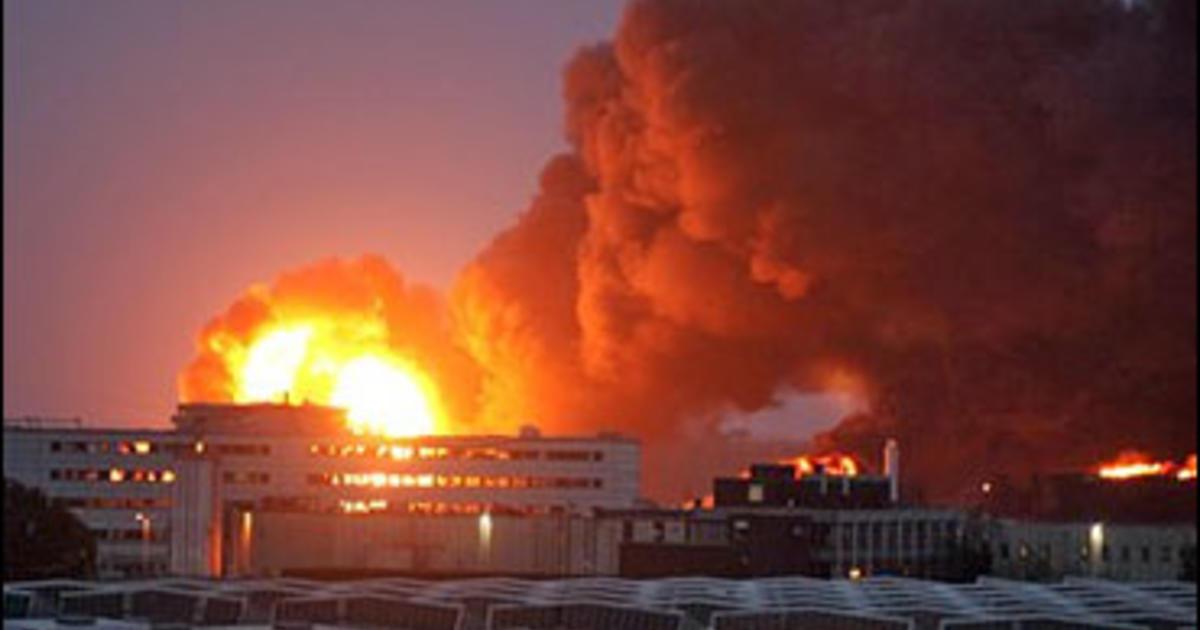 Progress At British Oil Depot Fire