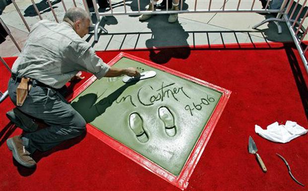 Kevin Costner Makes An Impression