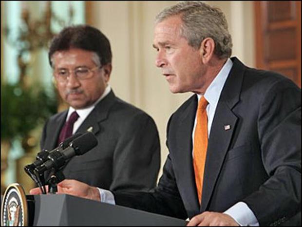 President Bush with Pakistani President Gen. Pervez Musharraf