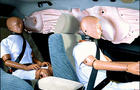 Side curtain air bags deploy in test car with dummies