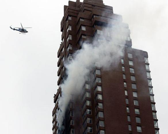 Plane Hits High-Rise