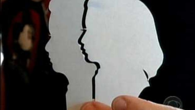 Silhouettes by artist Sylvia Fellows.