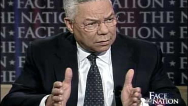Colin Powell on CBS's Face The Nation