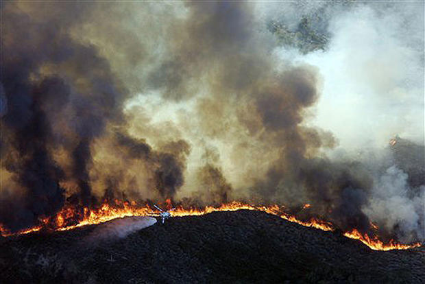 Fire Singes SoCal Hills