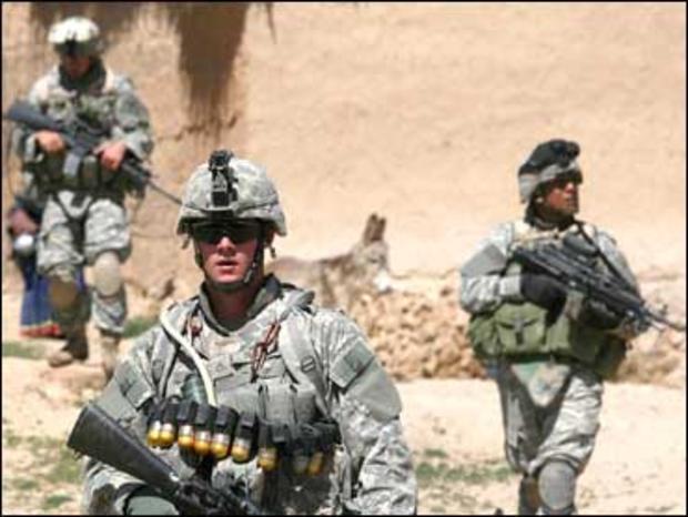 U.S. soldiers in southeastern Afghanistan