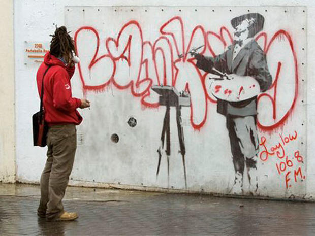 Show Me The Monet - The Art Of Banksy - Pictures - CBS News