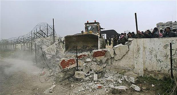 Gaza Wall Tumbles