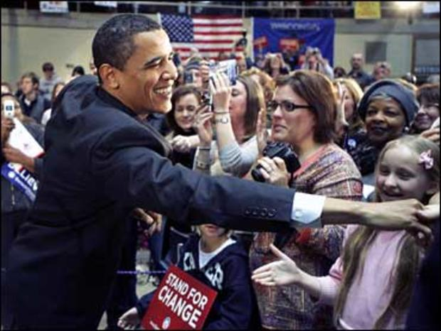 Barack Obama campaigns in Wisconsin