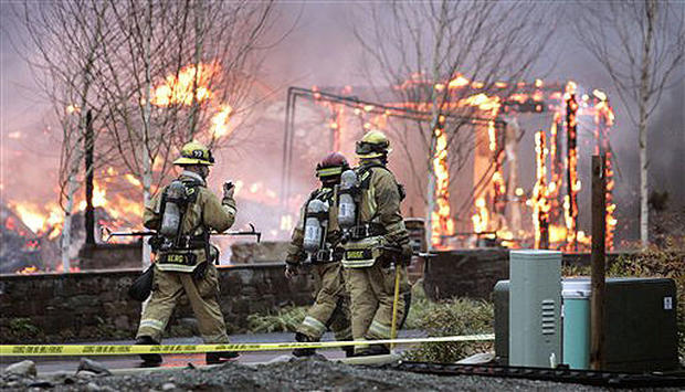 Luxury Homes Torched
